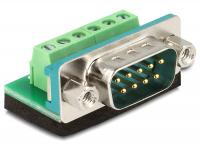 Delock Adapter Sub-D 9 pin male Terminal block 6 pin