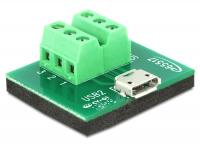 Delock Adapter Micro USB female Terminal Block 6 Pin
