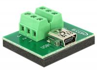 Delock Adapter Mini USB female Terminal Block 6 Pin
