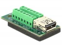 Delock Adapter USB 3.0 3.1 PD A female Terminal Block 14 pin