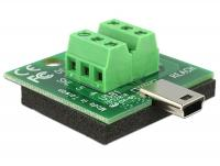 Delock Adapter Mini USB male Terminal Block 6 Pin