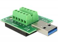 Delock Adapter USB 3.0-A male Terminal Block 10 Pin