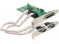 Delock PCI Card 2 x Serial + 1 x Parallel