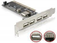 Delock PCI Card USB 2.0 4 + 1