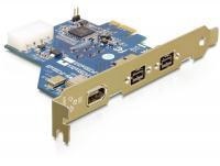 Delock PCI Express Card 2 x FireWire B, 1 x FireWire A