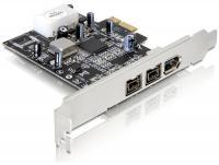 Delock PCI Express Card 2 x external FireWire B + 1 x external FireWire A