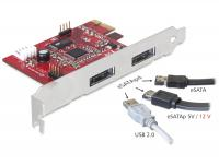 Delock PCI Express Card 2x Power Over eSATA 5V12V