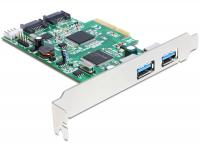 Delock PCI Express Card 2 x external USB 3.0 + 2 x internal SATA 6 Gbs