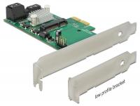 Delock PCI Express Card Hybrid 3 x internal SATA 6 Gbs + 1 x internal mSATA