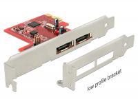 Delock PCI Express Card 2 x eSATA 6 Gbs with RAID – Low Profile Form Factor