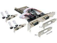 Delock PCI Express Card 6 x Serial