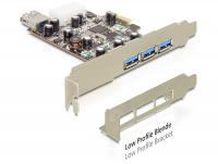 Delock PCI Express Card 3 x external + 1 x internal USB 3.0 type A female