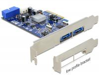 Delock PCI Express Card 2 x external Multiport USB 3.0 + eSATAp + 1 x internal 19 pin USB 3.0