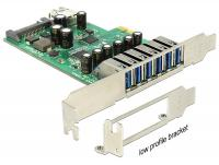 Delock PCI Express Card 6 x external + 1 x internal USB 3.0