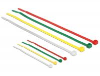 Delock Cable ties coloured L 100 x W 2.5 mm + L 200 x W 3.6 mm 200 pieces