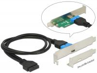 Delock Slot Bracket 19 Pin USB 3.0 Pin Header 1 x USB Typ-C™ female Low Profile Form Factor