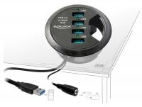 Delock In-Desk Hub 4 Port USB 3.0