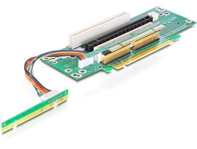 Delock Riser Card PCI Express x16 1 x PCI Express x16, 2 x PCI Slot
