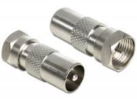 Delock Adapter F plug coax plug
