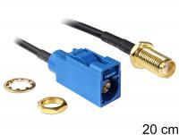 Delock Antenna Cable SMA Jack Bulkhead FAKRA C Jack 200 mm