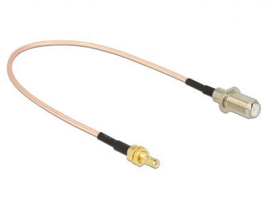 Delock Antenna Cable F Jack SMB Plug 25 cm