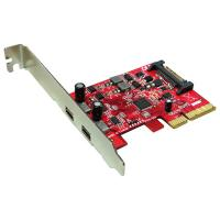 ROLINE PCI-Express x4 Adapter, 2x Ports Type C USB3.1