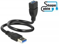 Delock Cable USB 3.0 A male USB 3.0 A female ShapeCable 0.5 m
