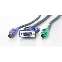 KVM-cable 2xPS/2+VGA (M-F),3.0m