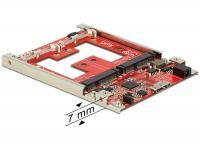 Delock 2.5 Converter USB 3.1 Type Micro-B female 2 x mSATA with RAID