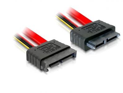 Delock Extension Cable Slim SATA male female 100 cm