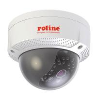 ROLINE 4 MPx Fixed Dome Network Camera, RDOF 4.1, IR-LED, PoE, 4mm lens (83 ° angle of view), IP66 for indoor and outdoor use