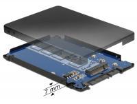 Delock 2.5 Converter SATA 22 Pin M.2 NGFF with Enclosure