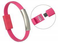 Delock USB Bracelet USB 2.0 Type-A male USB 2.0 Micro-B male pink 22 cm
