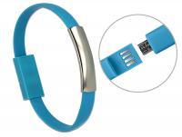 Delock USB Bracelet USB 2.0 Type-A male USB 2.0 Micro-B male blue 22 cm