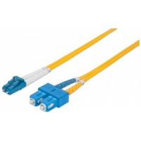Fiber Optic Patch Cable, Duplex, Single-Mode, LC/SC, 9/125µm, OS2, 1.0m, yellow
