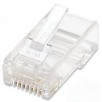 INTELLINET 100-Pack Cat5e RJ45 Modular Plugs, UTP, 2-prong, for stranded wire