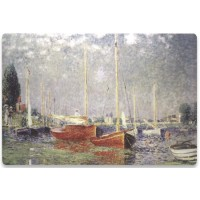 MANHATTAN Notebook Computer Skin Fits Most Widescreens Up to 17 in., Monet, Red Boats at Argenteuil