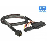 Delock Cable SFF-8643 male - U.2 SFF-8639 male + SATA power connector 50cm