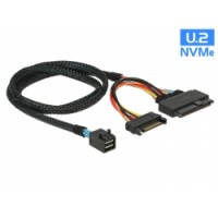 Delock Cable SFF-8643 male - U.2 SFF-8639 male + SATA power connector 75 cm