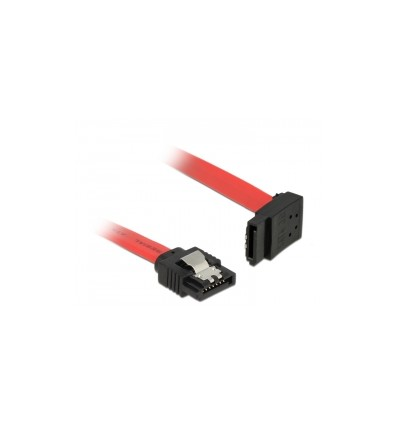 DeLOCK Cable SATA 100/ cm Yellow Re//OB Metall