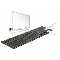 Delock Wireless Keyboard for Smart TV and Windows PC with Touchpad 6 mm flat