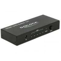 Delock HDMI UHD Switch 5 x HDMI in - 1 x HDMI out 4K