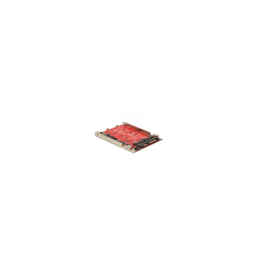Delock 25 Converter Sata 22 Pin 2 X M2 Ngff With Raid 7 Mm Msata Ssd To Adapter Card