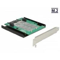 Delock Converter SATA - 2 x M.2 Slot with RAID + Slot Bracket / 3.5″ Frame
