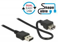 Delock Cable EASY-USB 2.0 Type-A male EASY-USB 2.0 Type-A female ShapeCable 0.5 m