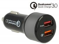 Navilock Car charger 2 x USB Type-A with Qualcomm® Quick Charge™ 3.0