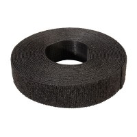 VELCRO ONE-WRAP strips unperforated, 20mm, black, 5.0 m