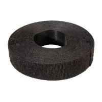 VELCRO sloksne neperf., 20mm, melns, 5,0 m