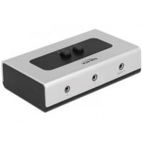 Delock Switch Stereo Jack 3.5 mm 2 port manual bidirectional
