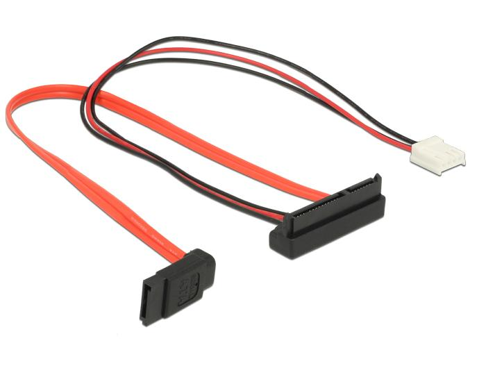 Cable SATA 6 Gbs 7 pin receptacle + Floppy 4 pin power receptacle (5 ...
